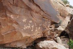 Petroglyphs do parque nacional dos arcos Imagens de Stock Royalty Free