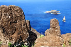 Petroglyphs on Easter Island Stock Photos