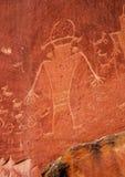 Petroglyphs Fremont αμερικανών ιθαγενών ινδικό κύριο εθνικό πάρκο σκοπέλων στοκ φωτογραφία