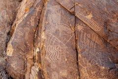 Petroglyphs i Parowan Gap Royaltyfri Bild