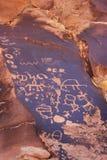 Petroglyphs indianos, monumento histórico do estado da rocha do jornal, Utá, EUA fotos de stock
