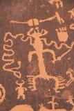 Petroglyphs indianos, monumento histórico do estado da rocha do jornal, Utá, EUA imagens de stock royalty free
