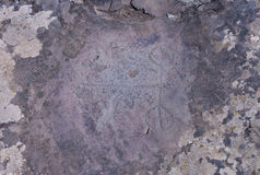 Petroglyphs of Kalbak-Tash in Altai, Siberia Royalty Free Stock Photo