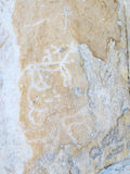 Petroglyphs on Lake Baikal Stock Photo