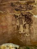 Petroglyphs at McConkie Ranch near Vernal, Utah. stock photography