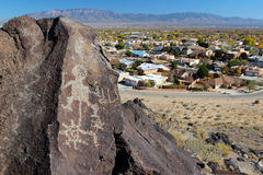 Petroglyphs, monumento nacional do Petroglyph, Albuquerque, New mexico imagens de stock royalty free