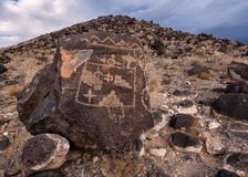 Petroglyphs on the mountain Stock Image