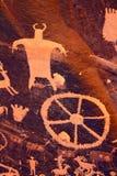 Petroglyphs on Newspaper Rock Stock Photo