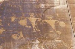 Petroglyphs, Newspaper Rock, Southern UT Royalty Free Stock Image