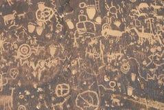 Petroglyphs, Newspaper Rock, Southern UT Stock Photo