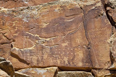 Petroglyphs of NIne Mile Canyon Royalty Free Stock Photography