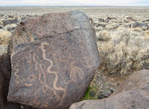 Petroglyphs, northern Nevada Stock Photo