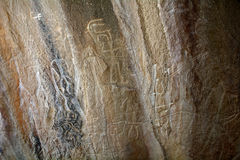 Petroglyphs, Qobustan, Azerbaijan Stock Photo