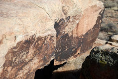 Petroglyphs on the rock Stock Photography