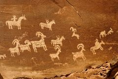Petroglyphs (rock art) Stock Images