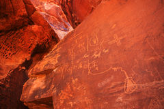 Petroglyphs on Snadstone Royalty Free Stock Image