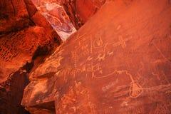 Petroglyphs on Snadstone Royalty Free Stock Image