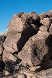 Petroglyphs on the stone royalty free stock image