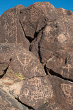 Petroglyphs on the stone Stock Image