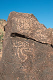 Petroglyphs on the stone Stock Photo