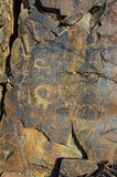 Petroglyphs on the stone Stock Photography