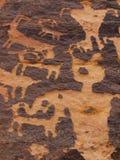 petroglyphs sydliga utah Royaltyfri Bild