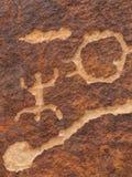 petroglyphs sydliga utah Arkivbilder