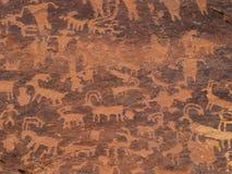 petroglyphs sydliga utah Royaltyfri Fotografi