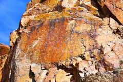 Petroglyphs in Tamgaly Tas, Kazakhstan Stock Images