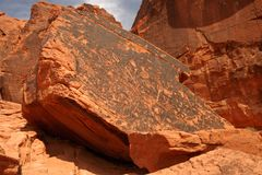 Petroglyphs of Valley Of Fire Royalty Free Stock Image