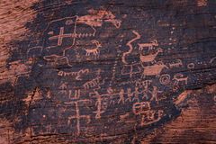 Petroglyphs, Valley of Fire Royalty Free Stock Images