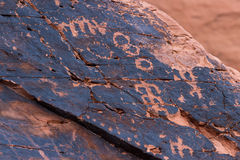 Petroglyphs, Valley of Fire Stock Photo