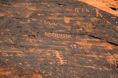 Petroglyphs in the Valley of Fire Royalty Free Stock Images