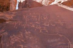 Petroglyphs in Valley of Fire, Nevada Stock Photos
