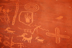 Petroglyphs in Valley Of Fire park Stock Photography