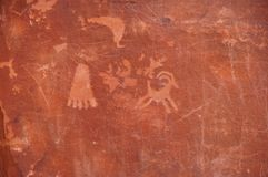 Petroglyphs. Valley of Fire petroglyphs on the rock Stock Images