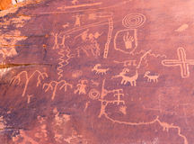 Petroglyphs at Valley of Fire State Park, Nevada Stock Image
