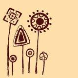 Petroglyphs vegetation Vector Stock Image