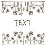 Petroglyphs vegetation, white background, place for text, Stock Photos