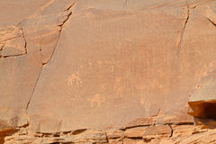 Petroglyphs Wadi Rum Jordan Royalty Free Stock Photos