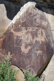 Petroglyphs of wyoming Royalty Free Stock Images