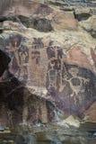 Petroglyphs of wyoming Stock Images