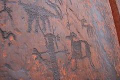 petroglyphsfår royaltyfria bilder