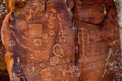 petroglyphssinagua Royaltyfri Foto