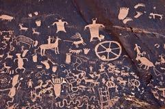 Petroglyths утеса газеты, Canyonlands, Юты Стоковые Фотографии RF