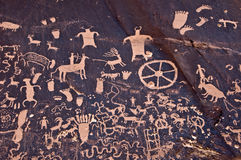 Petroglyths of Newspaper rock, Canyonlands, Utah Royalty Free Stock Photos