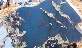 Petrográfico en Kaskabulak, Aksu-Dzhabagly, Kazajistán Imagen de archivo libre de regalías
