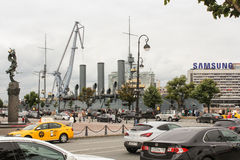 Petrograd embankment in St. Petersburg. Stock Photography