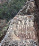 Petrographs av Gobustan nära Baku royaltyfri fotografi