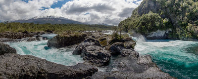 Petrohue River and Osorno Volcano in Chile Royalty Free Stock Photography
